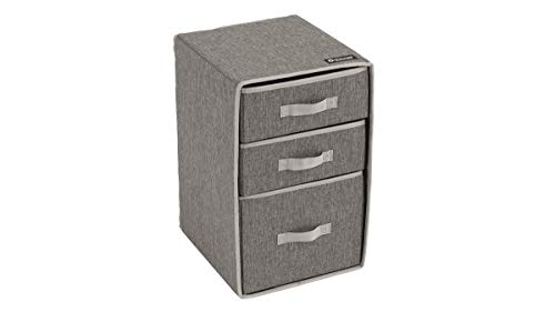 Outwell Barmouth Foldable 3 Drawer Bedside Table Grey