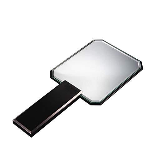 GOCF Miroir De Maquillage Portable Maquillage Portable Miroir Coiffeuse cosmétique Miroir de la lumière Naturelle vive pour Le Maquillage De Comptoir (Color : Black, Size : 11.5x25cm)
