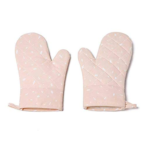 Puyong Oven Mitts BBQ Gloves-Oven Mitts with Non-Slip Silicone Surface for Baking, Cooking, BBQ