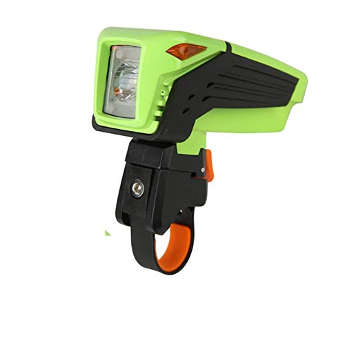 Luz de bicicleta de montaña IPX5 impermeable bicicleta soporte de montaje de la luz de la luz de la luz del faro de la luz del manillar USB recargable LED Linterna Luces delanteros ( Color : Green )