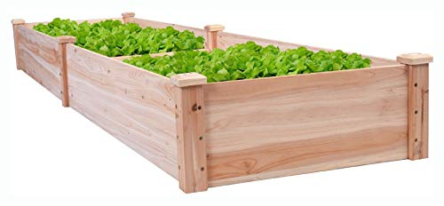 Planter, Solid Wood 8 ft x 2 ft Raised Garden Bed Planter
