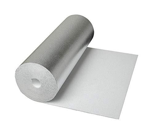 CLIMAPOR weiße Dämmtapete alukaschiert, 5 x 0,5 m x ~ 4 mm, 4 Rollen (= 10 qm), EPS - Innenraum-Dämmung - Isoliertapete