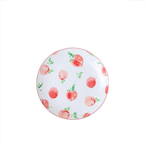 Platos, platos, vajilla para el hogar, platos pequeños, frutas bonitas, platos de cerámica, discos lunares de 8 pulgadas , No. 3