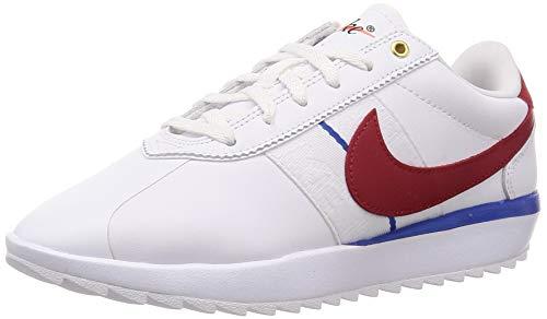 Nike Cortez G, Zapatillas de Golf Mujer, Blanco (White/Varsity Red-Varsity Royal-White 100), 38.5 EU