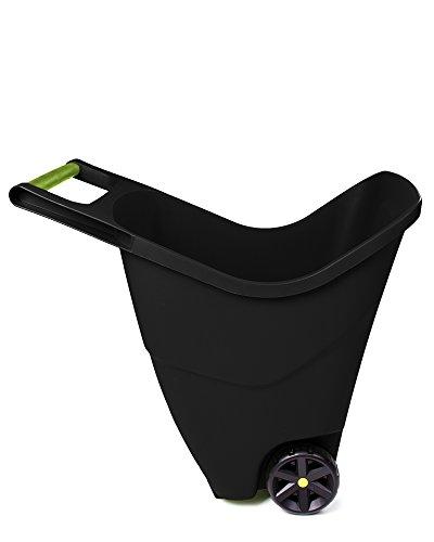 Ondis24 Gartenschubkarre 85 L Trolley mit Griff Zweirad Kunststoff Outdoor (Schwarz)