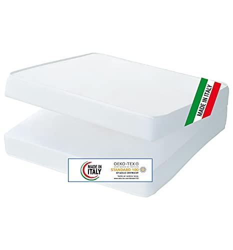 Baby Nana Materassino Viaggio Campeggio Pieghevole, Made in Italy, Oeko-tex®, Tessuto in 100% Cotone, 60 x 120 x 6,5 cm, Morbido, Anallergico, Igenico, Traspirante