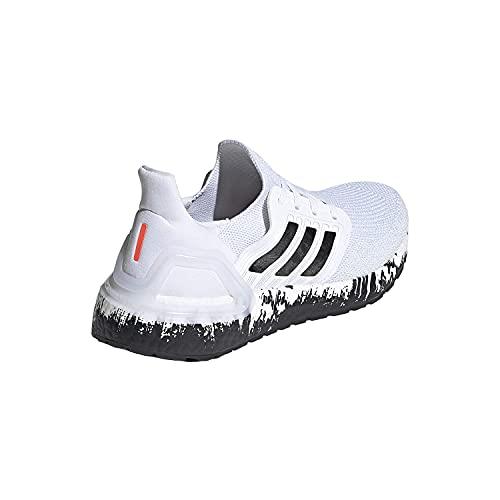 adidas Women's Ultraboost 20 Sneaker, White/Black, 7 M US
