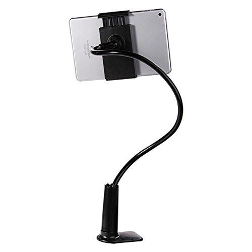 HEMOBLLO Soporte universal perezoso para teléfono celular Soporte para teléfono móvil Soporte de brazo de cuello de cisne flexible para dispositivos de teléfono inteligente o tableta (Negro)