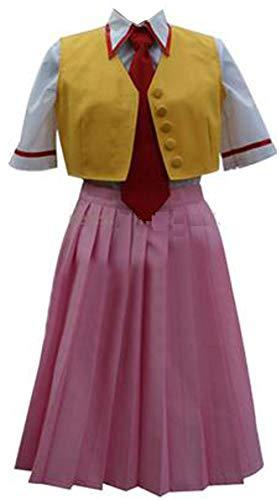 Poetic Walk Higurashi When They Cry Higurashi no Naku Koro ni Mion Sonozaki Uniform Cosplay Costume (Womens-XL, A Set)