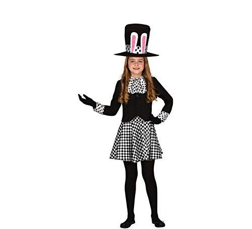 Guirca Disfraz de Sombrerera Loca Oscura para niña 7 a 9 años