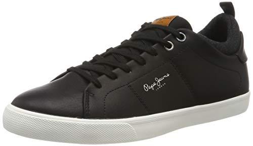 Pepe Jeans London Herren Marton Basic Sneaker, Schwarz (Black 999), 44 EU