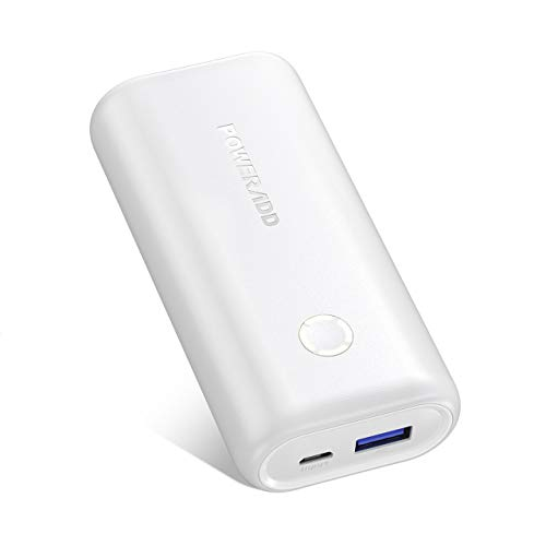 POWERADD EnergyCell 10000, Ultra-Compact High-Speed Charging Portable Charger, Smallest and Lightest 10000mAh Power Bank Compatible for iPhone 11 XS X 8 Plus Samsung S10 Google LG iPad and More(white)
