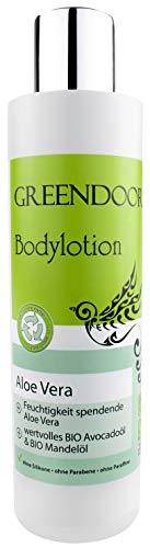 GREENDOOR vegane Bodylotion Aloe Vera, Naturkosmetik Körperlotion, Manufaktur-Qualität ohne Silikon, ohne Parabene, 250 ml