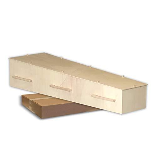 DHZ grafkist bouwpakket voor crematie en begraving, in compacte doos als pakket verzonden
