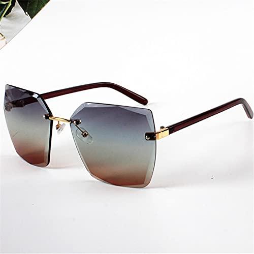 Gafas Sol De Hombre Mujer Polarizadas Sunglasses Gafas De Sol Sin Montura para Mujer Gafas De Sol Gradiente De Moda para Mujer Co