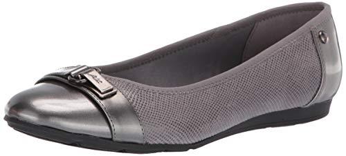 Anne Klein Women's Able Ballet Flat Shoe, Grey Multi, 7 W US