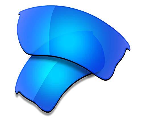 Saucer Premium Replacement Lenses for Oakley Quarter Jacket OO9200 Sunglasses High Defense - Glacier Blue Polarized