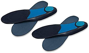 Amazon Brand - Solimo Plantar Fascia Support Insoles Men s Size 8-13  2 Pairs