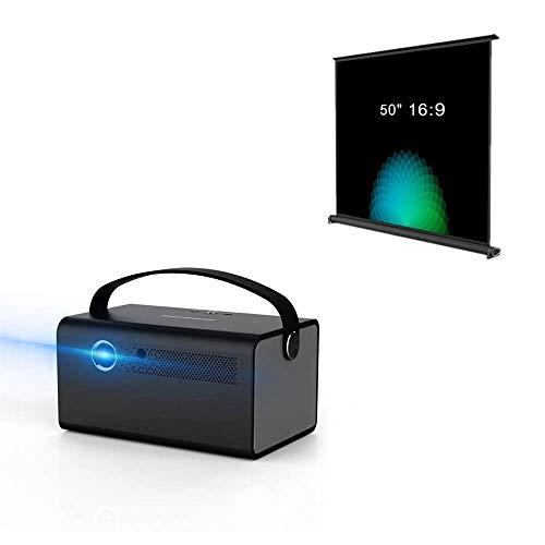 """Cocar 3D DLP Projector V7丨16:9 50"""" Portable Movie Screen"""