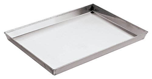 Paderno World Cuisine 25 1/2 by 17 3/4 Inch by 1 1/8 Inch Splayed Sided Aluminized Steel Baking Sheet