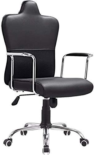 Bürostühle, Bürostuhl Computer Stuhl Swivel Bürostuhl Rotating Boss Chefsessel Einfache Lounge Aufgaben-Stuhl Sessel (Color : Black)