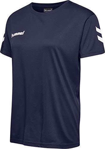 hummel Camiseta de Mujer Core Poly tee S/S, Mujer, Camisetas, 203435-7026, Marine,...