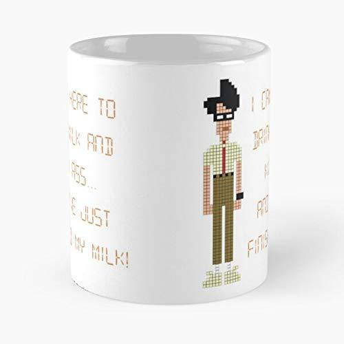 Crowd The UK Nerd I Comedy It Tv Geek T Show British Best - Taza de café de cerámica de 11 onzas