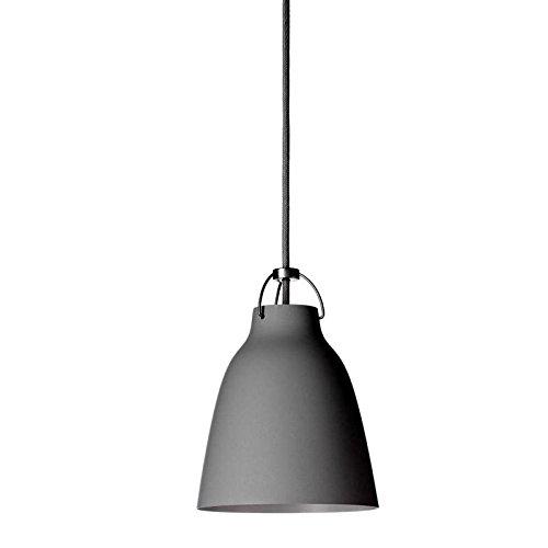 Unbekannt Shapes - Pendelleuchte - Caravaggio P1, dunkelgrau mit grauem Kabel Ø165mm - E27