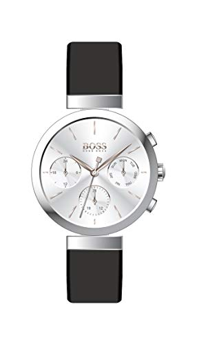 Hugo Boss Damen Analog Quarz Uhr mit Leder Armband 1502528