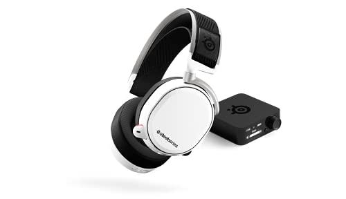 SteelSeries Arctis Pro Wireless - Casque Gaming sans fil (2,4 G & Bluetooth) - Pilotes d'enceintes haute résolution - Pour PC, PS5 et PS4 - Blanc