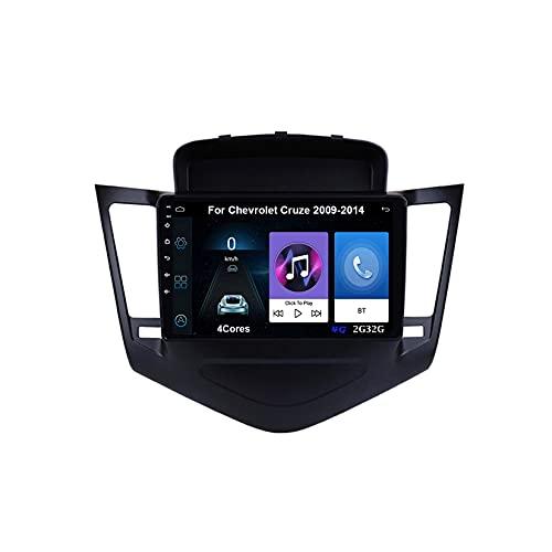 Android 10 Autoradio 9 Pulgadas Coche Radio De Coche Pantalla Tactil For Chevrolet Cruze 2009-2014 Radio Del Coche Car Player Conecta Y Reproduce Coche Audio USB Cámara Trasera