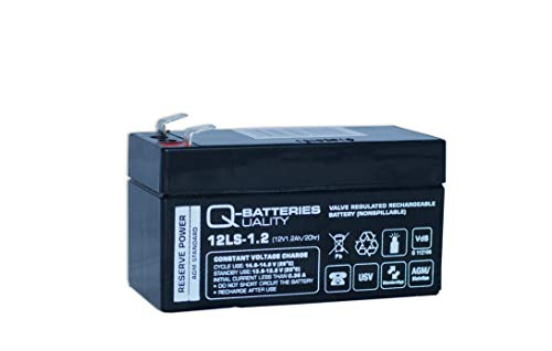 Q-Batteries 12LS-1.2 12V 1,2Ah Blei-Vlies Akku AGM VRLA mit VDs