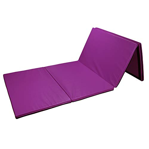 Gymnastics and Home Gym Protective Flooring BalanceFrom 1.5 Thick Tri-Fold Folding Exercise Mat with Carrying Handles for MMA
