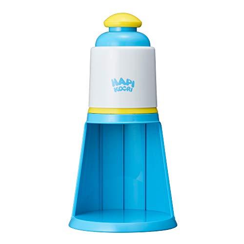 ドウシシャ かき氷器 電動 ハピコオリ バラ氷対応 製氷カップ2個付き ブルー DIN-20BL