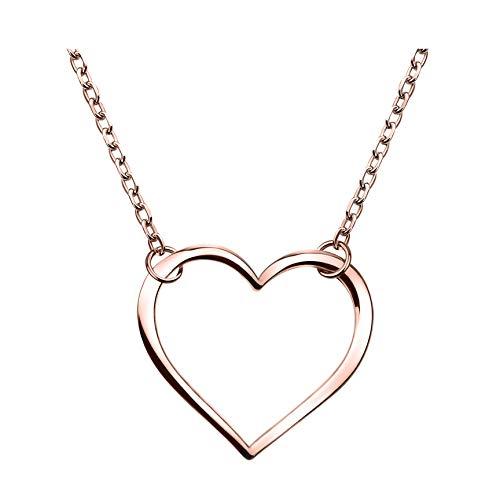 SOFIA MILANI - Damen Halskette 925 Silber - vergoldet/golden - Herz Anhänger - 50265