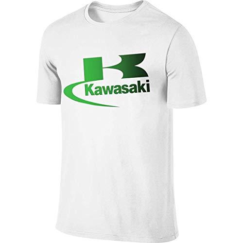 Men's Personalized Funny Tee Motorcycle Servicing in Kawasaki Logo Tshirt,T-Shirts & Hemden(Large)