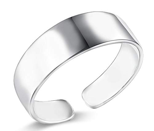 Frauenmode einfacher Finger-/Zehenknöchelring 6 mm (925 Sterlingsilber) 1 Stück