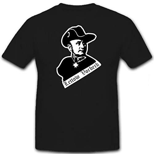 General Lettow Vorbeck Kommandeur Schutztruppe Deutsch Ostafrika T Shirt #12707, Farbe:Schwarz, Größe:XL