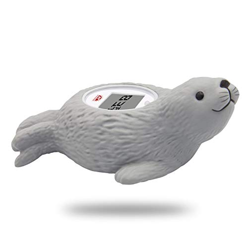 Doll Yearning [Grey Leopard Seal] Baby Bath Thermometer, Toddlers Floating...