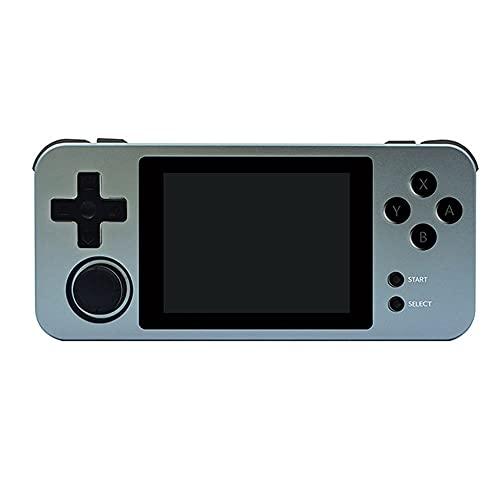 OOLG RG280M Consola de Juegos Retro Pantalla IPS de 2.8 Pulgadas Carcasa de Metal Arcade 3D Juegos Reproductor de Juegos portátil Sistema de código Abierto con Tarjeta 32G TF 2500 Juegos incorporados