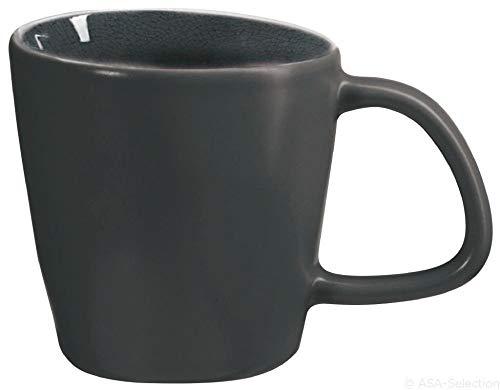ASA 26061044 Henkelbecher - Henkeltasse - Kaffeebecher - A la Maison - Auster/grau 0,3 l. Höhe 9,5 cm Ø 9,5 cm
