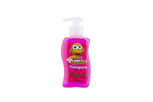 Colutti Turtles Liquid Soap 300ml - Kinderseife/Seife - speziell für Kinder entwickelt - Himbeere - pH hautneutrale Pflege für Kinderhaut - Super Dufterlebnis für Kinder