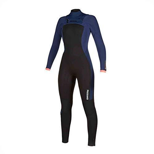 Mystic Watersports - Surf KiteSurf & Windsurfing Dames verblind 5/3 Double Chest Zip wetsuit met dubbele Chest Zip - Navy - Thermal Warm Heat