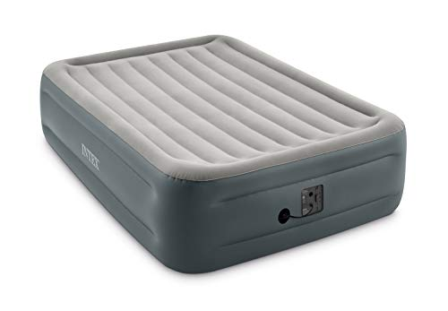 """Intex Dura-Beam Series Essential Rest Airbed with Internal Electric Pump, Bed Height 18"""", Queen (2020 Model)"""