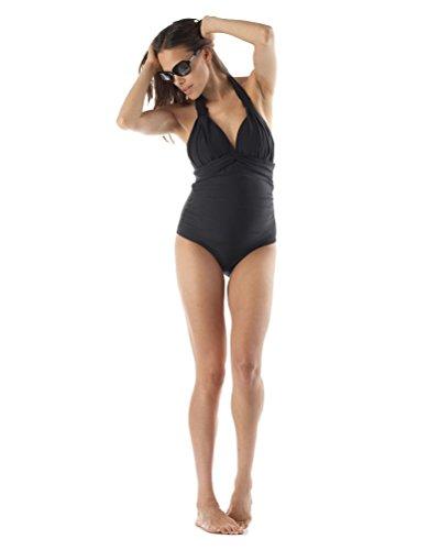 Seraphine(セラフィン)『BlackHalterNeckMaternitySwimsuit(ブラックホルターネックマタニティスイムスーツ)』
