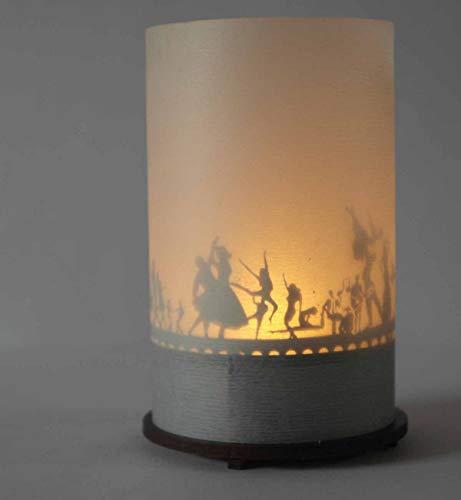 13gramm Tanzen Windlicht Schattenspiel Premium Geschenk-Box, inkl. Kerzenhalter, Kerze, Projektionsschirm und Teelicht