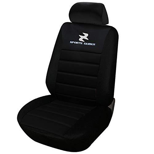 eSituro SCSC0065 1er Einzelsitzbezug universal Sitzbezüge für Auto Schonbezug Schoner Dicke gepolstert schwarz