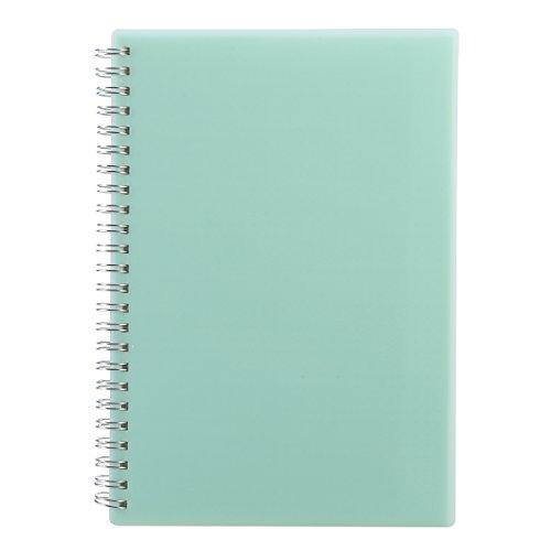 PDTO Purepaper Gepunktet Notizblock, Ring Notizbuch A5, Spiralblock mit Punkten, Dotted, 160 Seiten, Blau (1 Stück)