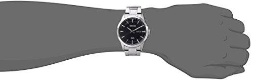 Fashion Shopping Seiko Men's SNE361 Analog Display Japanese Quartz Silver Watch
