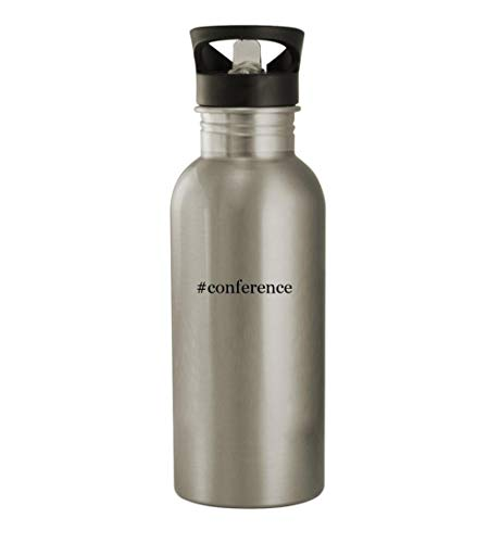 #conference - 20oz Stainless Steel Water Bottle, Silver